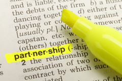 Partnership Definition Stock Photo