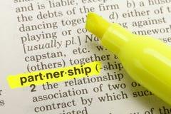 Partnership Definition Stock Photo