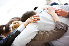 Partnership embrace stock photo