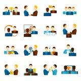Partnership Flat Icons Set Royalty Free Stock Images