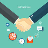 Partnership flat illustration. Stock Image