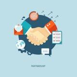 Partnership flat illustration. Stock Images