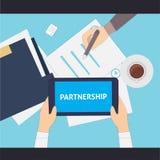 Partnership flat illustration. Vector eps 10 Stock Photo