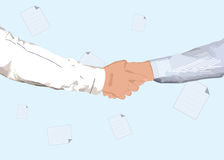 Partnership handshake Stock Photography
