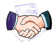 Partnership handshake Stock Images