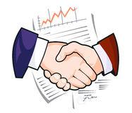 Partnership handshake Royalty Free Stock Photography