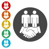 Partnership icon, handshake icon. Simple vector icons set Stock Photos