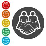 Partnership icon, handshake icon. Simple vector icons set Royalty Free Stock Images