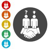 Partnership icon, handshake icon. Simple vector icons set Stock Photography