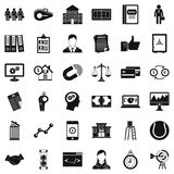 Partnership icons set, simple style. Partnership icons set. Simple set of 36 partnership vector icons for web isolated on white background Stock Photos