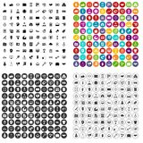 100 partnership icons set vector variant. 100 partnership icons set vector in 4 variant for any web design isolated on white Royalty Free Stock Photos