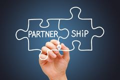 Partnership Jigsaw Puzzle Business Concept