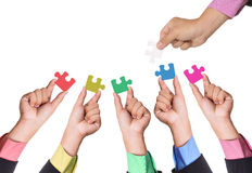 Partnership jigsaw puzzle Royalty Free Stock Photos