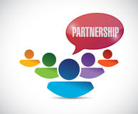 Partnership message illustration design Stock Image