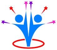 Partnership people success star logo Stock Images