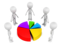 Partnership pie share Stock Photography