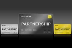Partnership platinum card Stock Image