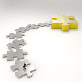 Partnership Puzzle metal 3d Stock Photography