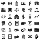Partnership relation icons set, simple style. Partnership relation icons set. Simple set of 36 partnership relation vector icons for web isolated on white Stock Photos