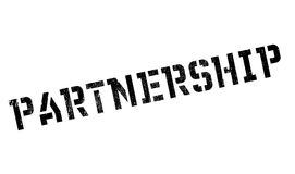 Partnership rubber stamp Royalty Free Stock Image