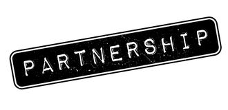 Partnership rubber stamp Stock Photography