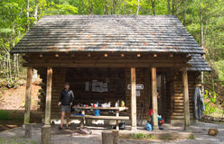 Partnership Shelter on the Appalachian Trail - Virginia Stock Photography