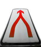 Partnership Sign. A metaphorical image with a view of a signpost showing road leading to partnership Royalty Free Stock Photography