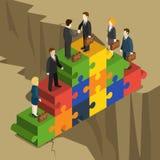 Partnership solution handshake business flat 3d vector isometric Stock Image