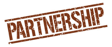 Partnership stamp Stock Photo