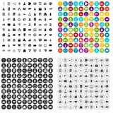 100 partnership startup icons set vector variant. 100 partnership startup icons set vector in 4 variant for any web design isolated on white Stock Illustration