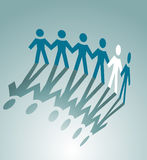 Partnership symbol. Paper peoples togetherness for communication or friendship concept design Royalty Free Stock Photo