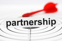 Partnership target Royalty Free Stock Photo