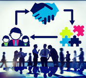 Partnership Team Corporate Collaboration Connection Concept Royalty Free Stock Photos