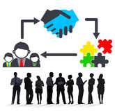Partnership Team Corporate Collaboration Connection Concept Royalty Free Stock Photography