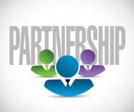 Partnership team sign illustration design graphic Royalty Free Stock Images