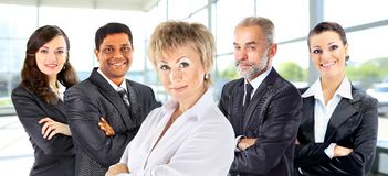 Partnership and teamwork with businesspeople Stock Images