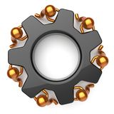 Partnership teamwork community black gearwheel business Royalty Free Stock Photography