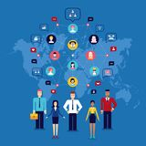 49 Partnership Teamwork Successful business team Social network and communication concept stock illustration