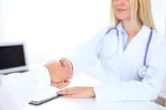 Partnership, trust and medical ethics concept Royalty Free Stock Photo
