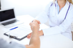 Partnership, trust and medical ethics concept Stock Images