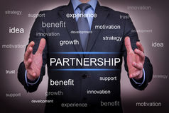 Partnership Between Two Hand Royalty Free Stock Photo
