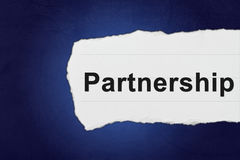 Partnership with white paper tears Stock Photo