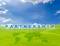 Partnership word buttons Royalty Free Stock Images