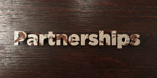 Partnerships - grungy wooden headline on Maple  - 3D rendered royalty free stock image. This image can be used for an online website banner ad or a print Stock Photography