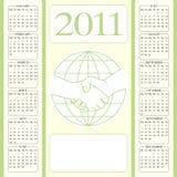 partnerskap för 2011 kalender Fotografering för Bildbyråer