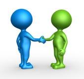 Partnerskap - handskakning Arkivfoto