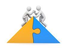 Partnerskap. Portionen räcker Arkivbild