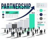 Partnerskapanslutning företags Team Support Concept Fotografering för Bildbyråer