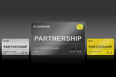 Partnerskapplatinakort vektor illustrationer