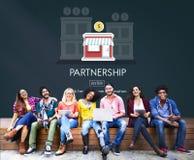 Partnerstwa wodowanie Początkowy Nowy Biznesowy pojęcie fotografia royalty free